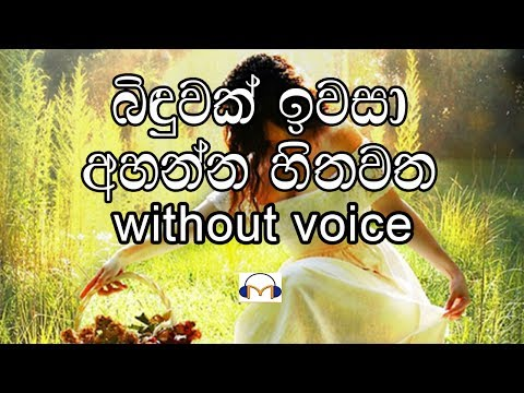 binduwak iwasa Karaoke (without voice) බිඳුවක් ඉවසා අහන්න හිතවත