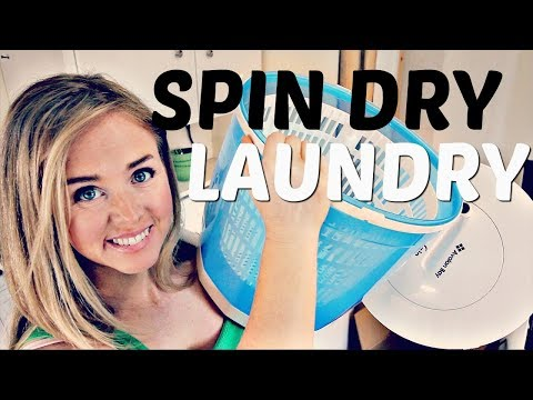 Frugal Off Grid or Apartment Laundry Spin Dryer Review