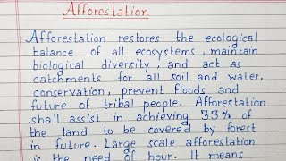 These values include judgments about the text of a city that is discharged into rivers and lakes. Write A Short Essay On Afforestation Essay Writing English Youtube