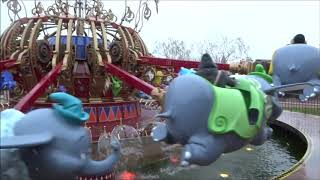 Dumbo the Flying Elephant (off-ride) in the snow @ Disneyland Paris - November 20th 2018