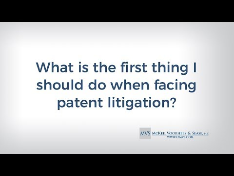 What is the first thing I should do when facing patent litigation?