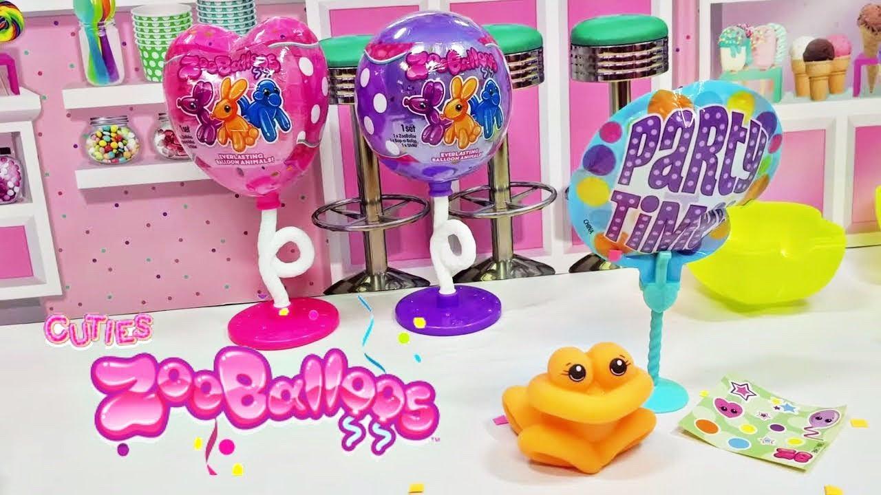 Zooballoos Surprise Squishy Balloon Animal Figures Zoo Balloos