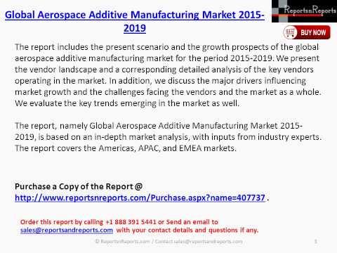 Aerospace Additive Manufacturing Market Global Analysis