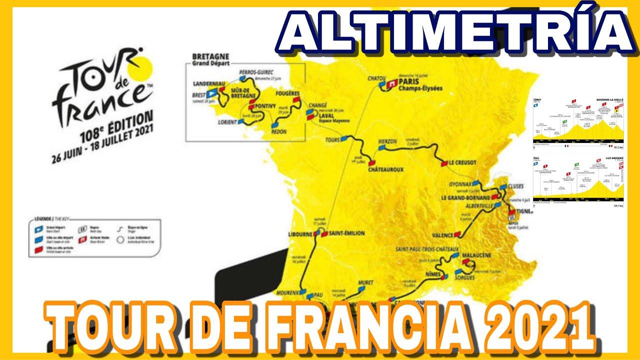 🇫🇷 Recorrido del TOUR DE FRANCIA 2021 ➤ Perfiles, Etapas y Altimetría