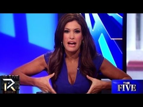 sexy anchor loses her shirt on live