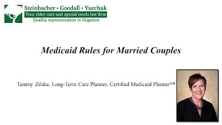 Tammy Zilske: Medicaid Rules for Married Couples
