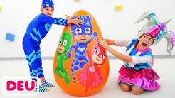 Riesen Überraschung Spielzeug Eier PJ Masken VS LOL