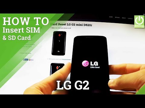 How to Insert SIM and Micro SD card in LG G2 mini D620r - SIM & SD in LG
