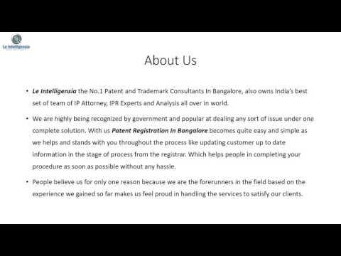 Le Intelligensia Patent Registration In Bangalore