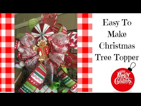 Simple Ideas For Christmas Tree Toppers| Christmas 2016
