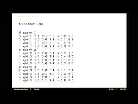 Machine Learning: Ranking