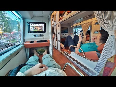 $6 Sleeper Bus in Vietnam - From Can Tho to Ho Chi Minh