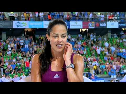 Ana Ivanovic - Sweat Interview after Game - Sexy Player