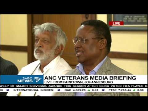 ANC veterans hold media briefing post January 8 Statement