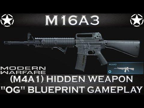 Modern Warfare M16A3 (M4A1) Hidden Weapon
