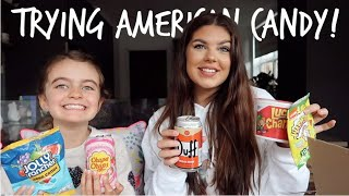 TRYING AMERICAN CANDY WITH MY YOUNGER SISTER! | Sophie Clough