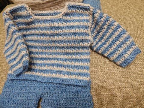 Sueter para Bebe Crochet parte 1 de 2 - YouTube