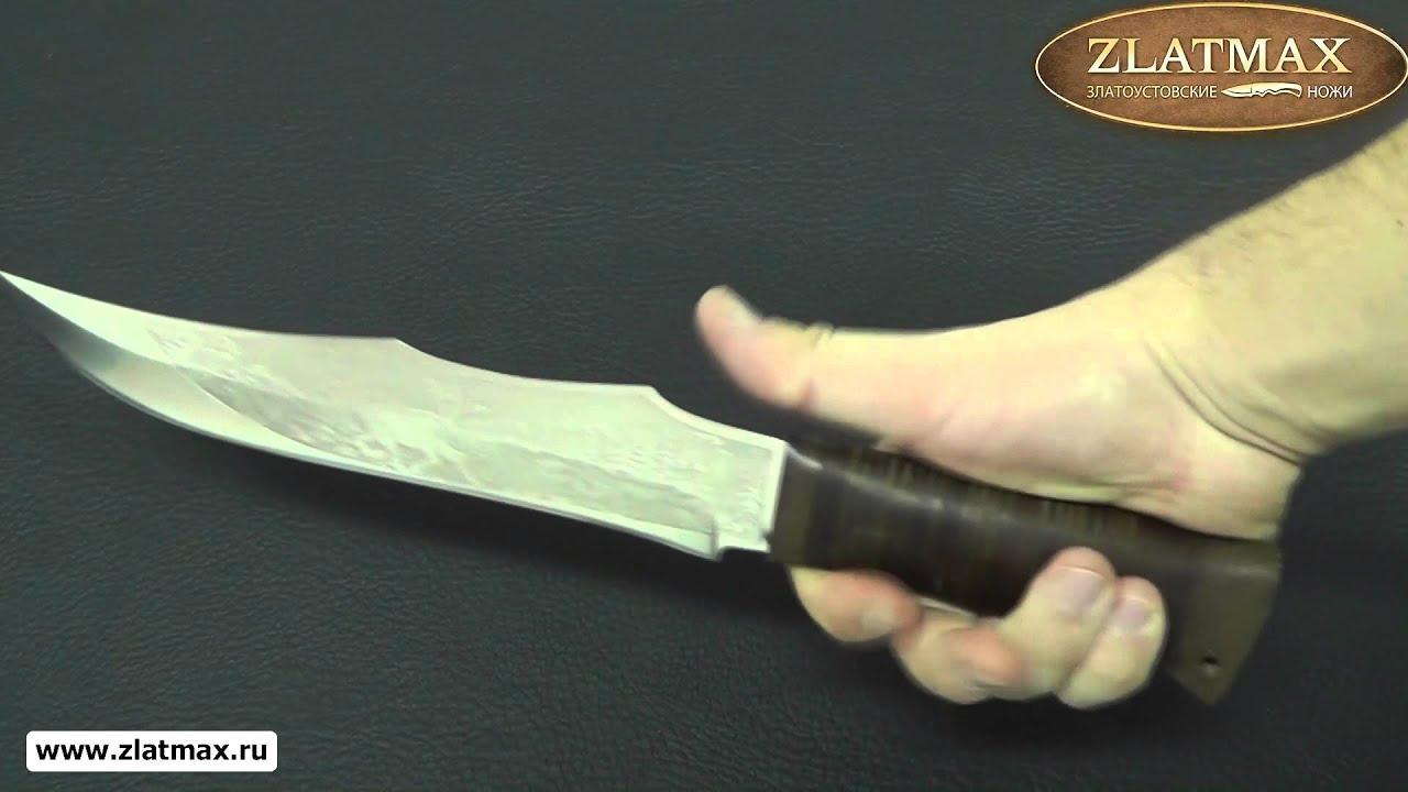 Видео Нож охотничий НС-35 (40Х10С2М, Наборная кожа, Текстолит)