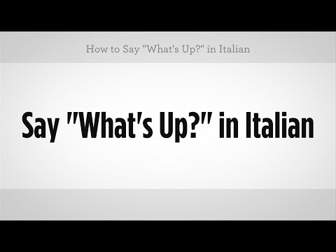 How to say hook up in italian