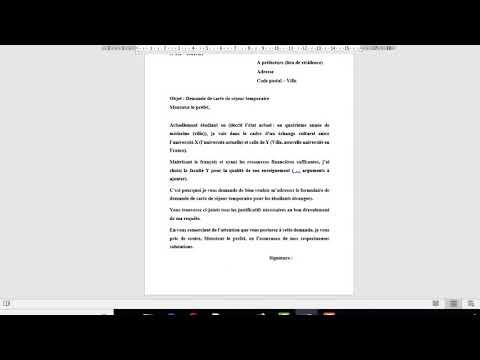 DEMANDE DE CARTE DE SEJOUR TEMPORAIRE POUR ETUDIANT EN ...