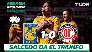 Resumen | Tigres UANL 1 - 0 Toluca | Liga MX - Apertura 2019  - Jornada 16 | TUDN