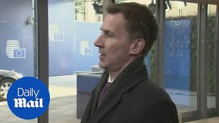 Hunt: 'We need flexibility and imagination for Brexit plan B'