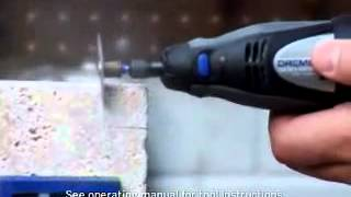 Cutting Cermanic Tile Using A Dremel Rotary Tool