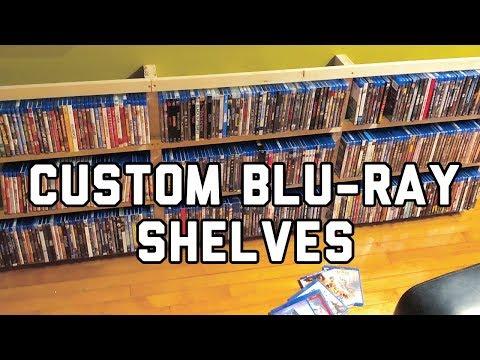 How To Build Custom Blu-ray/Media Shelving! | DIY Movie Room Project