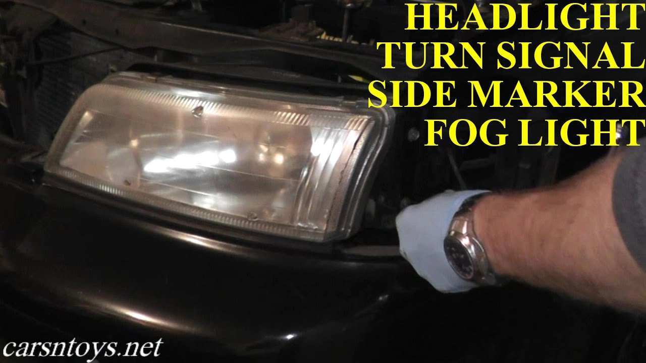 Nissan Maxima Headlight, Turn Signal and Fog Light Removal ...