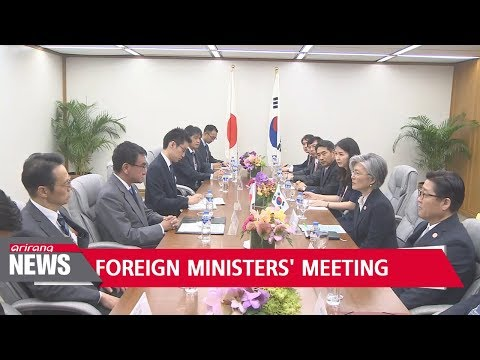 S. Korea-Japan foreign ministers hold talks on bilateral ties and N. Korea's nuclear issue