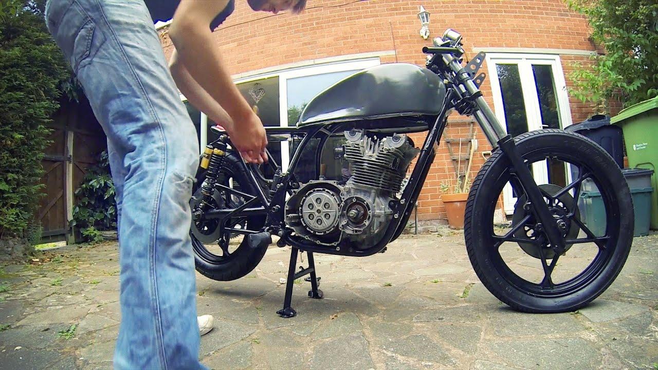 Cafe Racer Build Part 8, ing the engine, 78 Suzuki GS550 - YouTube