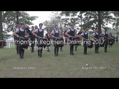 Phantom Regiment 2017 Drumline - In the Lot in Massillon, Ohio (August 7th, 2017)