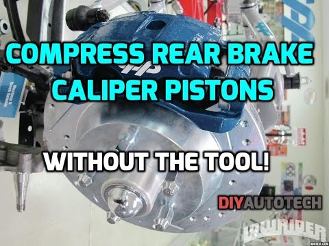 How To Compress Rear Brake Caliper Piston - WITHOUT THE TOOL - HD