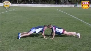 Rugby League warm ups for contact - WRESTLING DRILLS