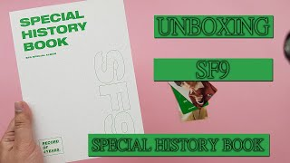 SF9 - Special Album [SPECIAL HISTORY BOOK]unboxing
