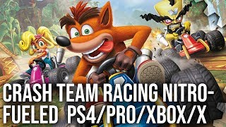 [4K] Crash Team Racing Nitro-Fueled: PS4/Pro vs Xbox One/X Tested + PS1 Graphics Comparison! Video