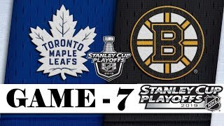 Toronto Maple Leafs vs Boston Bruins | Apr.23, 2019 | Game 7 | Stanley Cup 2019 | Обзор матча