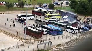 L'arrivo dei tifosi del Foggia al San Nicola Bari Foggia 1-0  26/11/2017