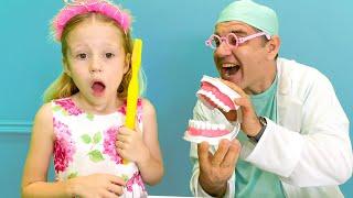 Nastya perdeu o dente e recebeu presentes da fada dosdentes