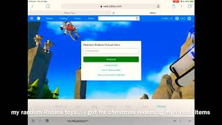 ROBLOX VIRTUAL ITEMs From roblox Toys