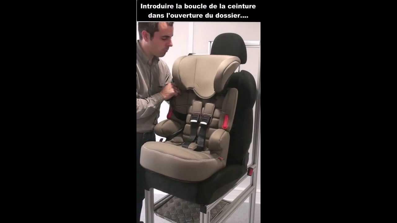 Installation si ge auto rehausseur dossier beline sp youtube for Rehausseur siege auto