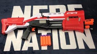 Nerf Fortnite TS Mega Pump Action Shotgun Brand NEW Video