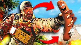 TROLLING PLAYERS ON BO3 WITH A GIANT SAUSAGE! (Black Ops 3 Prop Hunt Moments)