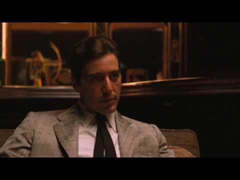 Крестный отец 2. Майкл Корлеоне встречается с мафиози Фрэнки Пентенджели.