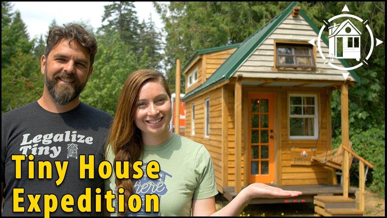 Tiny House Couple Lives A Life Of Adventure YouTube - Couple takes tiny house big adventure
