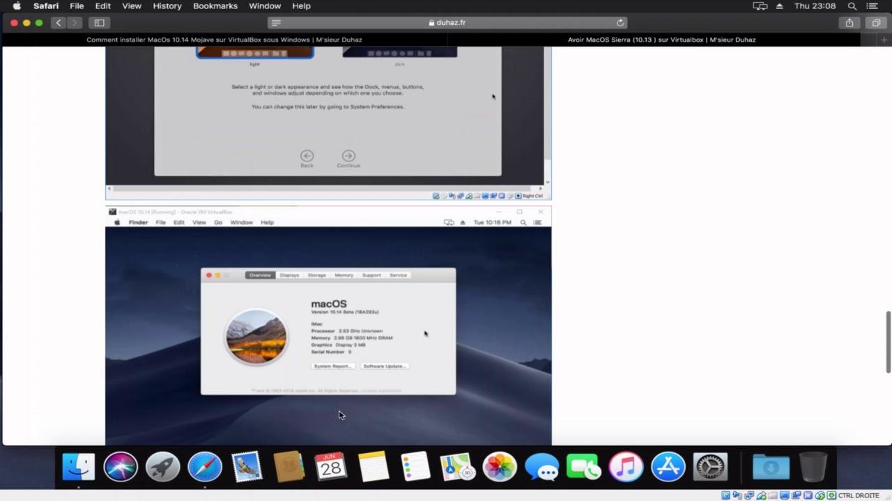 Avoir MacOS Mojave (10 14 ) sur Virtualbox