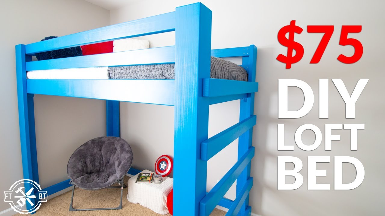 Build Your Kid S Dream Bed From 2x4 S Diy Loft Bed Youtube