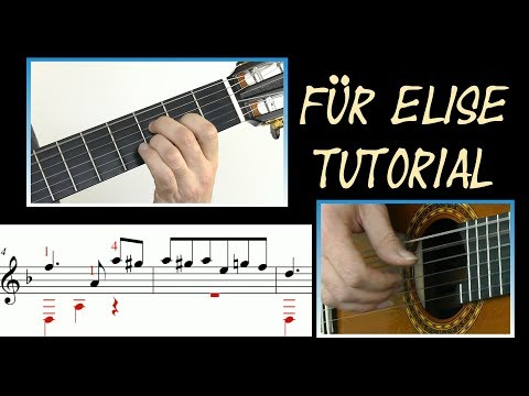 ♫♫ Für Elise  Guitar Tutorial Score & TAB