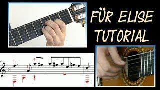 ♫♫ Für Elise - Guitar Tutorial (Score & TAB)