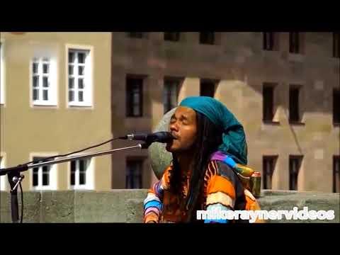 best street busker singer, i love you more than i can say, acoustic guitar reggae music
